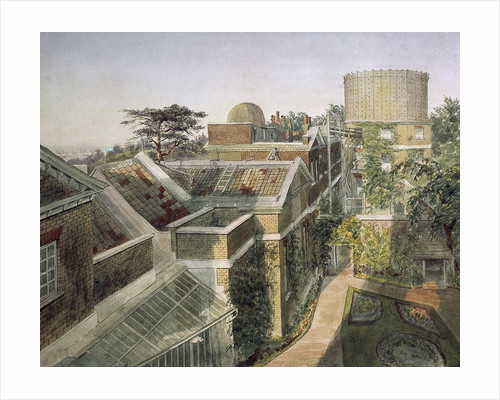 Elevated view of Royal Observatory, Greenwich by C.A.