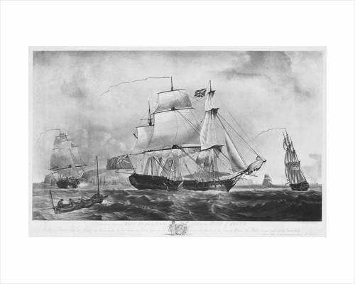 East Indiaman 'Dutton' (1781) taking a pilot off Dover by Robert Dodd