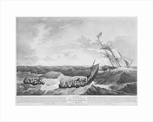 The situation of His Majesty's Packet 'The Lady Hobart' on 28 June 1803 by John Thomas Serres