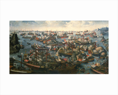 The Battle of Lepanto, 7 October 1571 by H. Letter