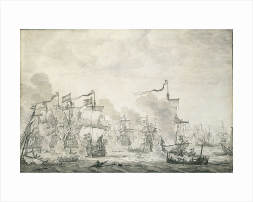 The Battle of The Sound, 29 October - 8 November 1658 by Willem van de Velde the Elder