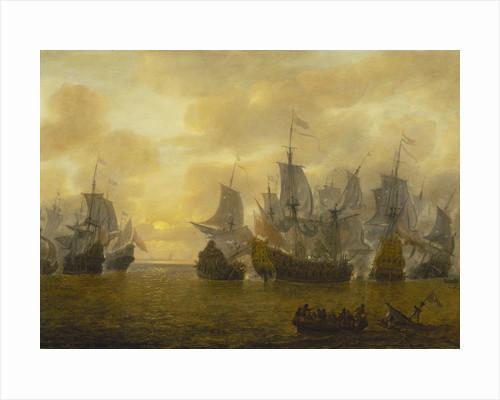 An action of the Four Days' Battle, 1-4 June 1666 by Lieve Pietersz Verschuier