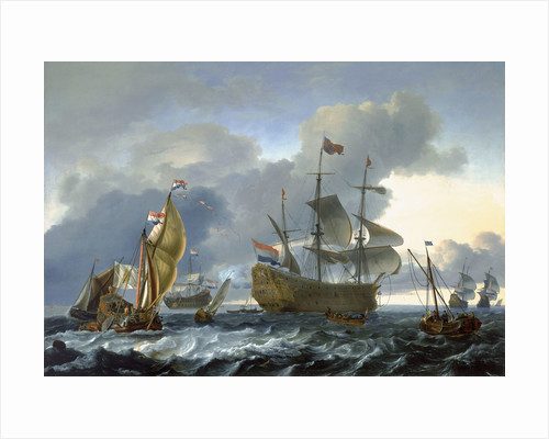 The Dutch attack on the Medway: 'Royal Charles' carried into Dutch waters by Ludolf Bakhuizen