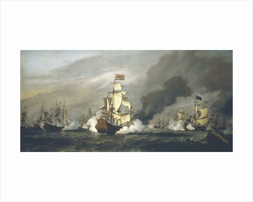 The Battle of the Texel, 11-21 August 1673 by Willem Van de Velde the Younger