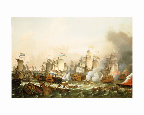 The Battle of Barfleur, 19 May 1692 by Ludolf Bakhuizen