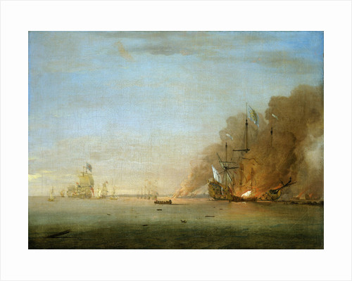 Destruction of the 'Soleil Royal' at the Battle of La Hogue, 23 May 1692 by Peter Monamy