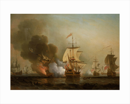 Action off Cartagena, 28 May 1708 by Samuel Scott