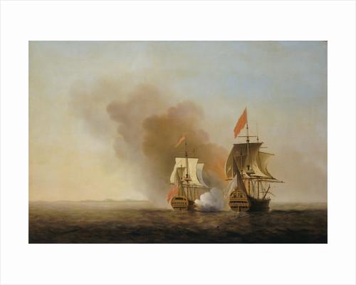The capture of 'Nuestra Senora de Cavadonga' by Samuel Scott