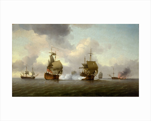 The capture of the 'Glorioso', 8 October 1747 by Charles Brooking