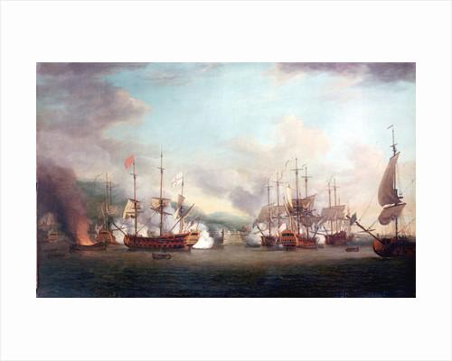 The capture of Port Louis, Cuba, 8 March 1748 by Richard Paton