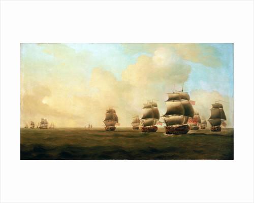 Beginning of Knowles' action off Havana, 1 October 1748 by Samuel Scott