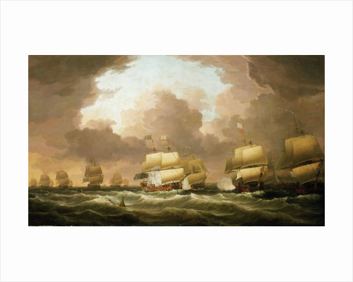 The Battle of Quiberon Bay, 20 November 1759 by Dominic Serres the Elder