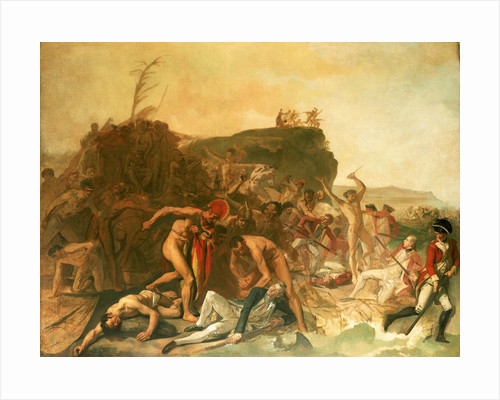 The death of Captain James Cook, 14 February 1779 by Johann Zoffany