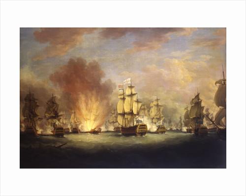 The Moonlight Battle: the Battle off Cape St Vincent, 16 January 1780 by Richard Paton