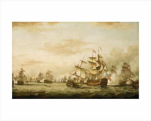 The Battle of the Saints, 12 April 1782, end of the action by Thomas Whitcombe