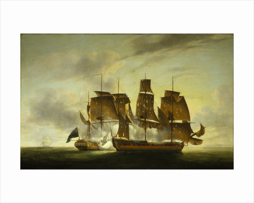 The capture of the 'Amazone' by HMS 'Santa Margarita', 29 July 1782 by Robert Dodd