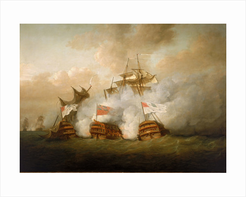The 'Brunswick' and the 'Vengeur du Peuple' at the Battle of the 1 June 1794 by Nicholas Pocock