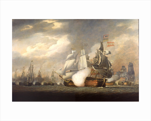 The 'Victory' raking the Spanish 'Salvador del Mundo' at the Battle of Cape St Vincent, 14 February 1797 by Robert Cleveley
