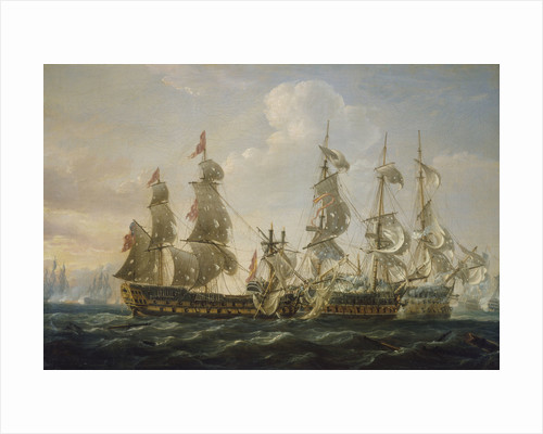 The 'Captain' capturing the 'San Nicolas' and the 'San Jose' at the Battle of Cape St Vincent, 14 February 1797 by Nicholas Pocock