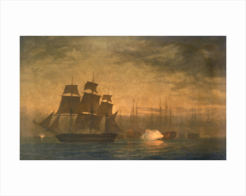 Escape of HMS 'Clyde' from the Nore mutiny, 30 May 1797 by William Joy