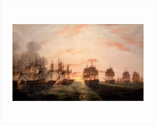 The Battle of the Nile, 1 August 1798 by Thomas Luny