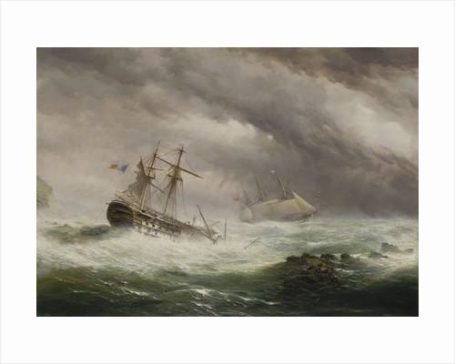 HMS 'Endymion' rescuing a French two-decker, 1803 by Ebenezer Colls