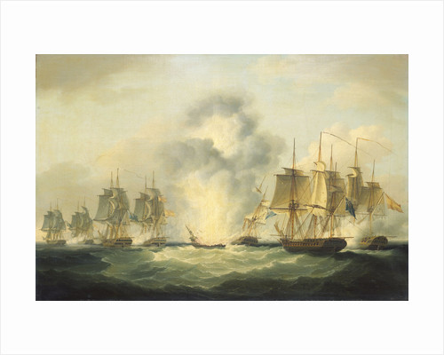 Four frigates capturing Spanish treasure ships, 5 October 1804 by Francis Sartorius