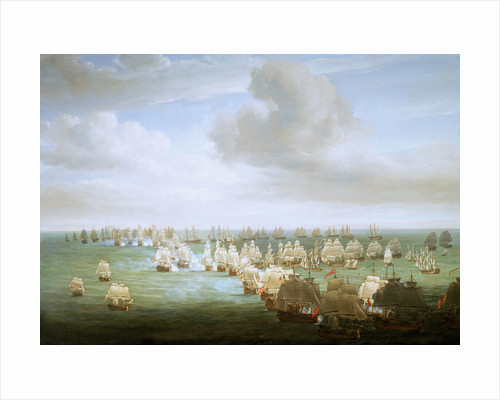 The Battle of Trafalgar, 21 October 1805, beginning of the action by Nicholas Pocock