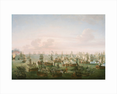 The Battle of Trafalgar, 21 October 1805, end of the action by Nicholas Pocock