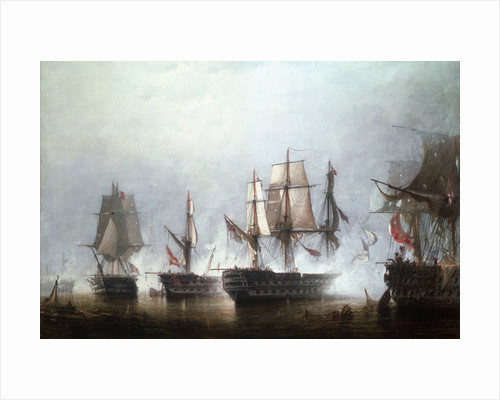 The Battle of Trafalgar, 21 October 1805 by Richard Henry Nibbs