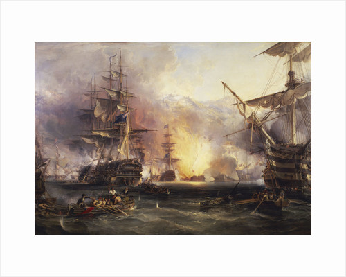 The bombardment of Algiers, 27 August 1816 by George Chambers the Elder