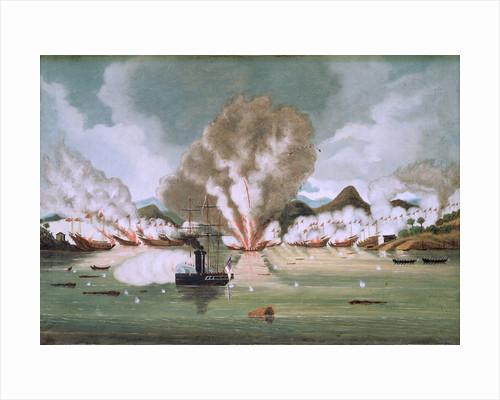 Destruction of Chui Apoo's pirate fleet, 30 September 1849 by Nam-Sing