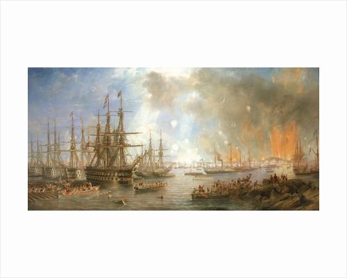 The bombardment of Sveaborg, 9 August 1855 by John Wilson Carmichael