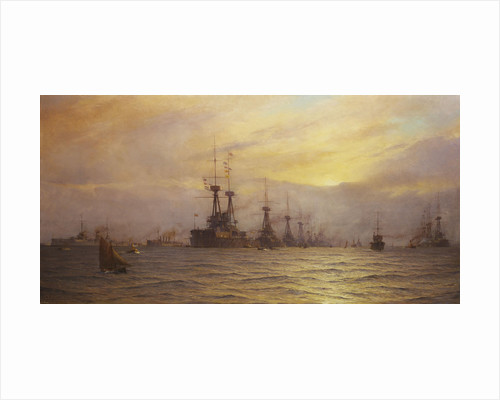 Arrival of the fleet for the coronation review by Alma Claude Burlton Cull
