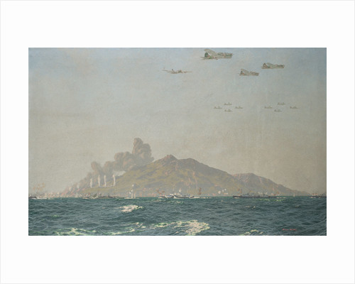 Bombardment of Pantellaria, Italy, 11 June 1943 by Charles Pears