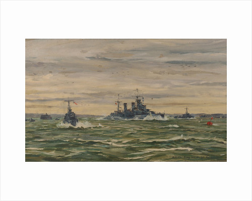 His Majesty the King leaves for Normandy in HMS 'Arethusa', 16 June 1944 by Lieutenant-Commander Rowland John Robb Langmaid