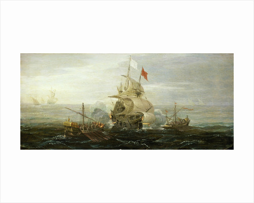 A French ship and barbary pirates by Aert Anthonisz