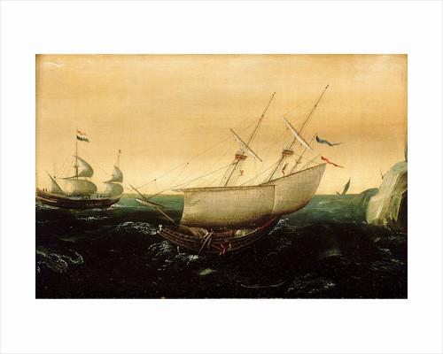 A Dutch ship close-hauled by Aert Anthonisz