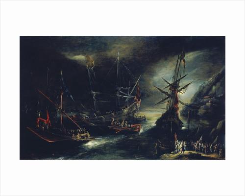Embarkation of Spanish troops by Andries van Eertvelt