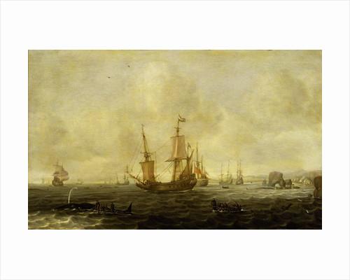 A Dutch whaling fleet by Jacob Feyt de Vries