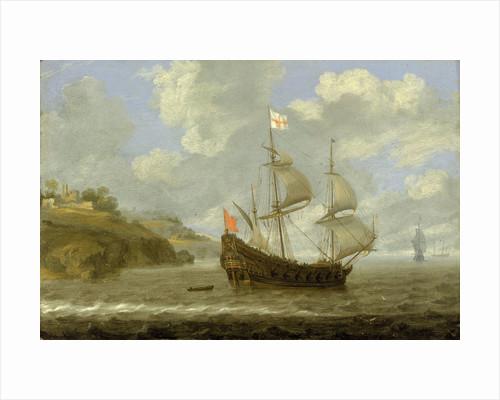 An English ship leaving the coast by Tobias Flessiers