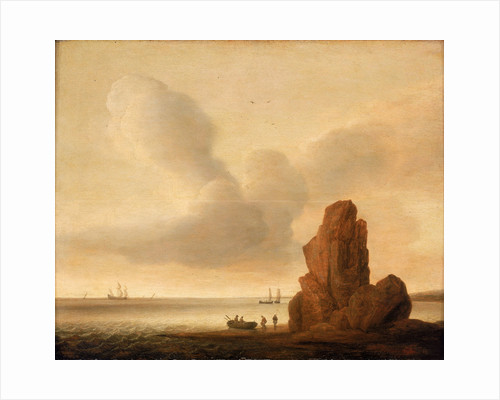 A rock in a calm sea by Jacob de Gruyter