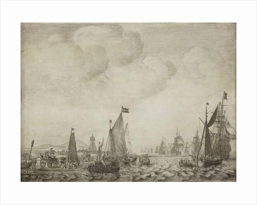 A kaag and a galjoot leaving the Vlie, 9 June 1645 by Willem van de Velde the Elder