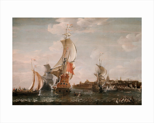 A Zeeland ship and other Dutch vessels off Flushing by Jean-Baptiste Bonnecroy