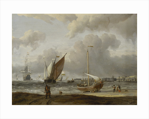 Fishing boats in a storm off the Dutch coast by Abraham Storck