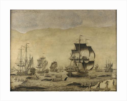 Dutch whalers in the ice by Roelof van Salm