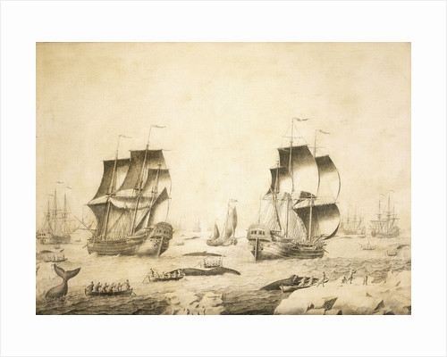 Whalers in the ice by Adriaen van Salm