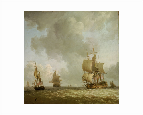 Ships in a light breeze by Charles Brooking