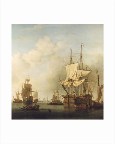 A Danish timber barque by Samuel Scott