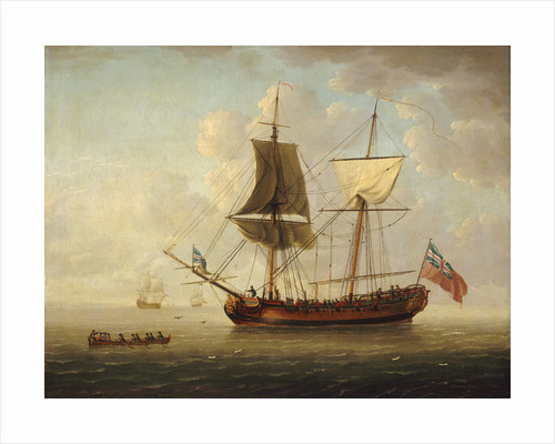 A brigantine in a calm sea by John Cleveley